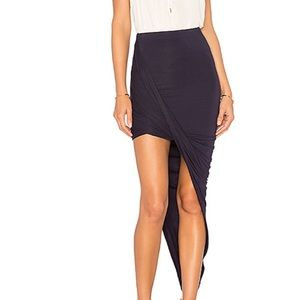 Revolve BLQ Basic Wrap Skirt in Navy